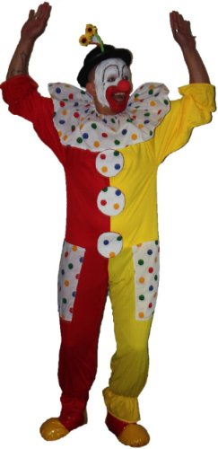 Kostüm Dragon Kid Red - Clown Fancy Dress Children In Need Costume (Red & Yellow, Childs age 8-12)