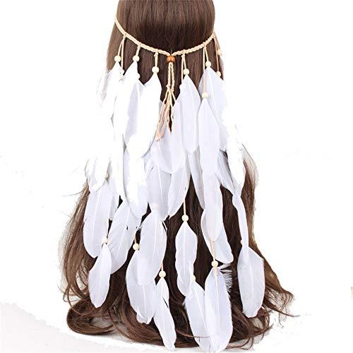 MELLRO Cocktail Haarband Haarband Festival Kopfbedeckung Haarreif Boho Fancy Feather Women