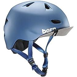 Bern Brentwood–Casco de ciclismo para hombre, Hombre, color Matte Steel Blue, tamaño XXL-XXXL