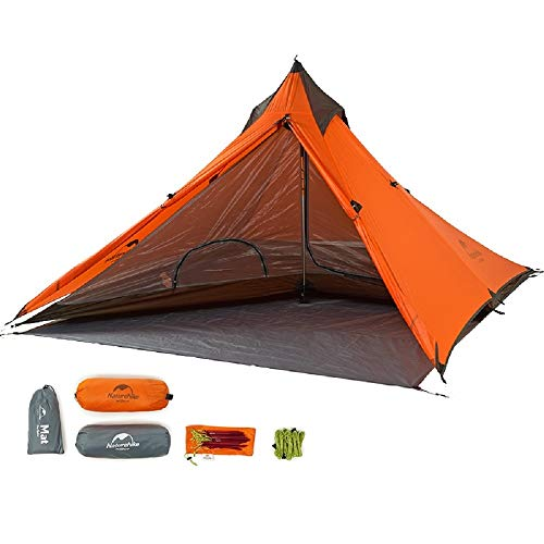 Naturehike Minareto un\'escursione Tenda Ultra-Light Tende da Campeggio per Una Persona con la stuoia NH17T030-L