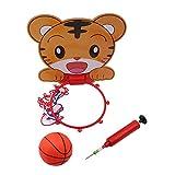 Ogquaton Premium Kids Indoor Basketball Hoop Play Set, Mini Tablero de básquetbol Colgante con Bola y Bomba para niños Tigre