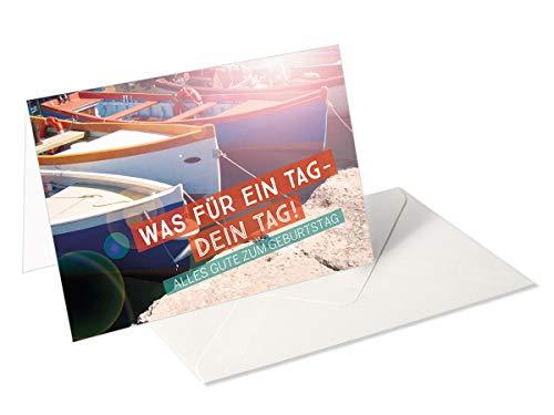 Ich wünsch Dir was/Grußkarte/Glückwunschkarte zum Geburtstag/Boote