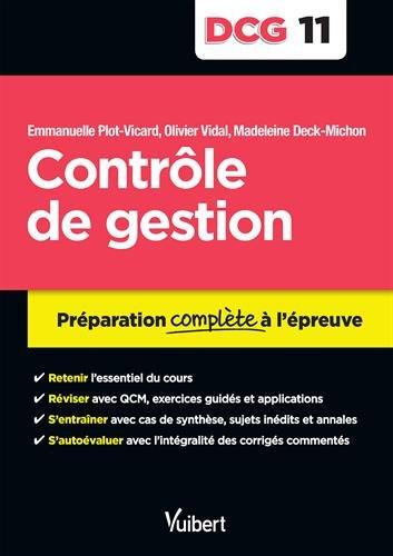 DCG 11. Contrôle de gestion - Préparation complète à l'épreuve