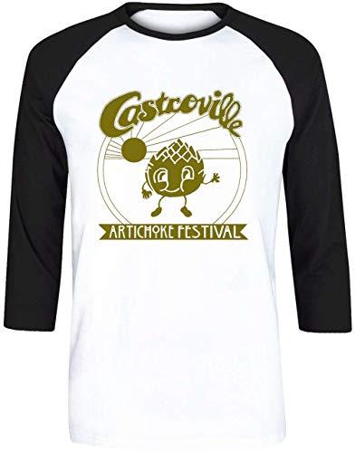 ille Artichoke Festival - Dustins Shirt in Stranger Things! Herren Weiß Schwarz Baseball T-Shirt 3/4 Ärmel Größe XXS   Men's White Black Baseball T-Shirt Size XXS ()