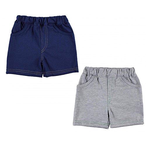 TupTam Jungen Kurze Hose Bermuda 2er Pack, Farbe: Dunkelblau/Grau, Größe: 98