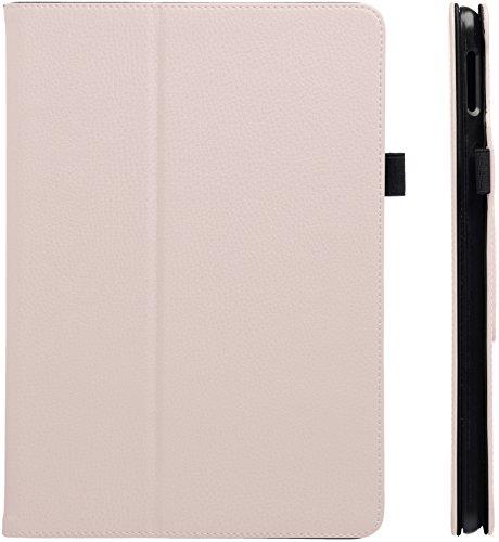 AmazonBasics - Funda de cuero sintético para iPad, con tapa con función inteligente de activación/reposo, Rosa, 24,6 cm