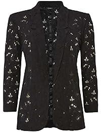 Suchergebnis auf Amazon.de für  damen spitzen blazer schwarz  Bekleidung 7269e1d0db