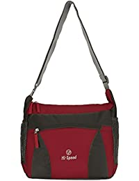 Hi-Speed Shoulder Sling Bag Red| Cross Body Travelers Sling Bag | Coaching,School Bag,Book Bag Turquoise Multipurpose...