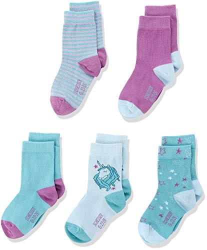 Schiesser Socken 5pack Kids Mädchen, 5er Pack, Mehrfarbig (Sortiert 1 901), 27-30