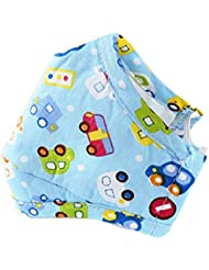 Ericotry PM2.5 Kids Mouth Face Mask Dust Mask with Activated Carbon Filter Insert Washable Cute Cotton Mouth Mask with Adjustable Straps