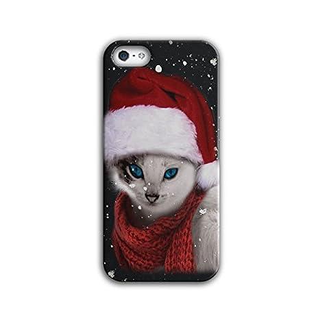 Chat Mignonne Drôle Noël Père Noël Claus 3D iPhone 5