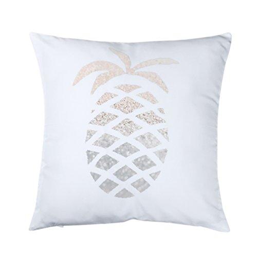 Amesii bedruckte Kissenbezüge mit Buchstaben- und Tiermotiven, goldene Ananas, für Sofa, Auto und Heimdekor, Taillenkissen 1 Gold Pineapple