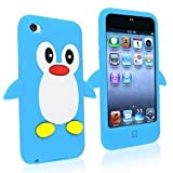 SKS distribuzione 9 K-cwn8-bin6 Light Sky Blue Penguin Style custodia cover posteriore per Apple iPod Touch 4th Gen Generation 4 4 G