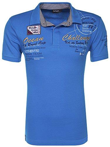 behype. Poloshirt Challenge T-Shirt 20-2728 Türkis 4XL