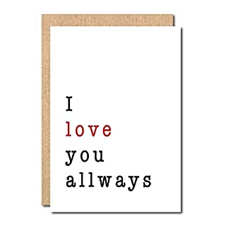i love you allways card Funny Birthday Anniversary Valentines Birthday Greetings Boyfriend Husband Wife Girlfriend