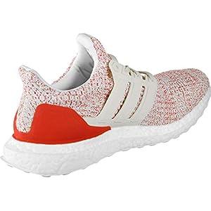 adidas Ultraboost W, Zapatillas de Running para Mujer, Blanco Chalk White/Active Red, 43 1/3 EU