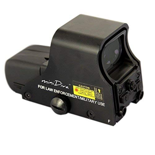 Minidiva® 551 Holographic Sight Red Green Point Visier / Dot Anblick Bereich, 10 Stufen Helligkeit, passt in jede 20mm Schiene