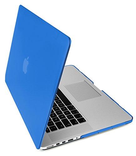 """MyGadget Hülle Hard Case [Matt] - für Apple MacBook Pro Retina 15"""" (2013-2016) Model A1398 - Schutzhülle Plastik Tasche Hartschalen Cover in Blau"""