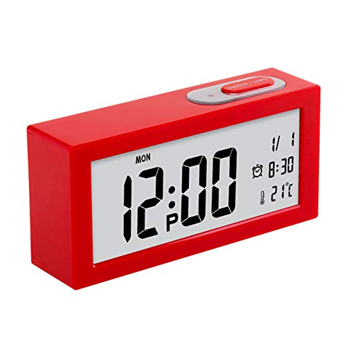Quadratischer Intelligenter Wecker Kreative Kinder-Student Desktop Mute Smart Clock Light Control Induktions Uhr