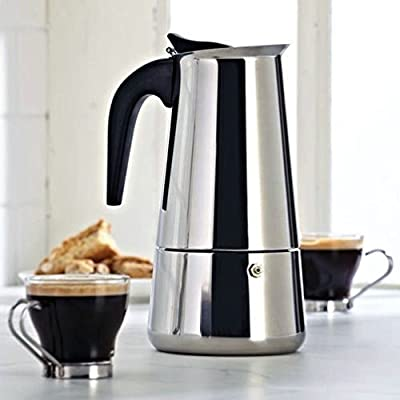 450Ml Stainless Steel Espresso Coffee Maker Cooker Top 9 Cups Percolator by Fun Daisy