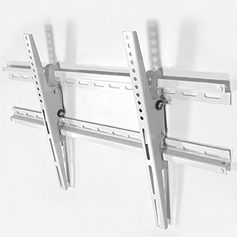 TV staffa a parete (bianco) sottile Tilt disegno +/- 15