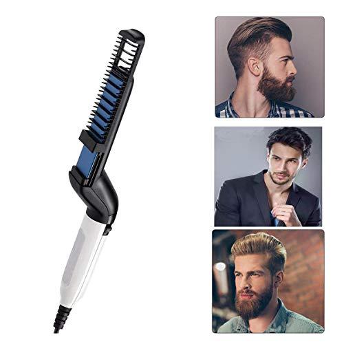 Hombres la Barba rápida enderezadora, Plancha de pelo barba flequillo para Los hombres, Peine alisador...