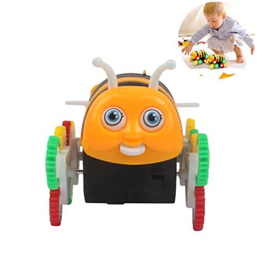 Lispeed Biene Spielzeug, Elektrische Stunt-Auto Salto Biene Automatisches Überspringendes Spielzeug Neuheit Geschenk für Kinder
