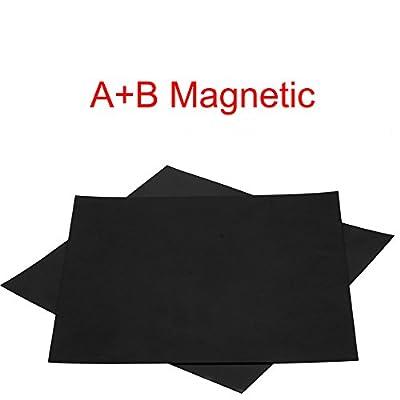 3D-Drucker-Oberfläche von Eewolf, 220 x 220 mm für Anet A8 und WanHao i3, magnetisch, stabil, abnehmbar, quadratisch, schwarz