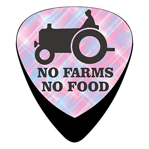 Car No Farms No Food Celluloid Electric Guitar Picks 12-pack