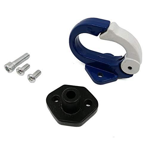 rsal Repair Assembly Motorrad Roller Gepäck Helm Tasche Carry Hanger Hook Holder Gepäck Haken (Farbe : Blau, Größe : Schwarz) ()