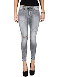 PLEASE - P78 jeans femme pantalons skinny ripped