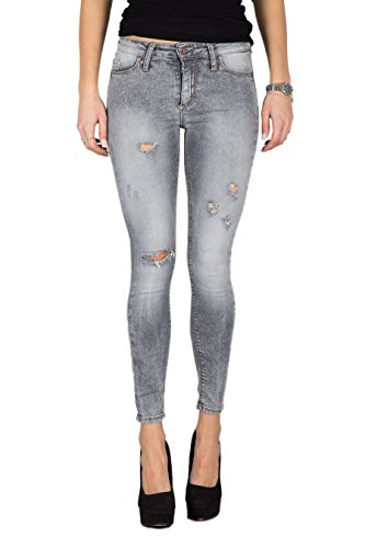 PLEASE - P78l pantaloni jeans da donna skinny con rotture xxs grigio Kollection 2015 - Outlet