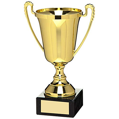 Womack Graphics Gold Plastic Cup Football Trophy - 10.5