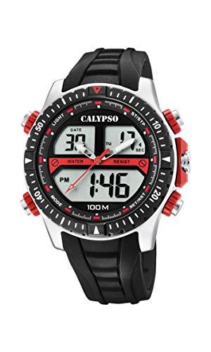 c855336e2301 Calypso Watches Reloj Analógico-Digital para Hombre de Cuarzo con Correa en  Plástico K5773
