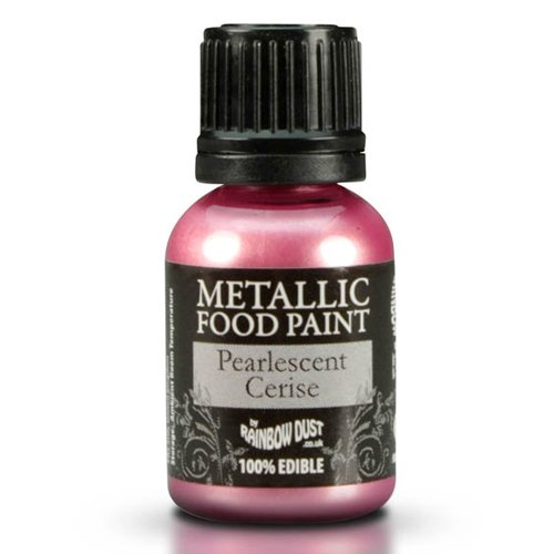 Cakes Supplies - Peinture Alimentaire Metallique Rose 25Ml