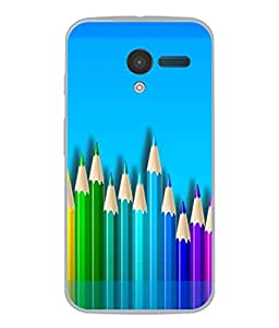PrintVisa Designer Back Case Cover for Motorola Moto X :: Motorola Moto X (1st Gen) XT1052 XT1058 XT1053 XT1056 XT1060 XT1055 (Painting Drawing Art Pencil )
