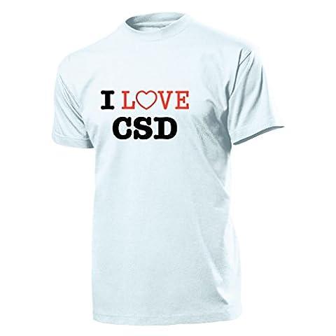 I Love CSD Christopher Street Day Schwule und Lesben Homo - T Shirt Herren, weiß #904 (Christopher Us Marine)
