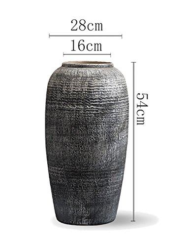 Unbekannt Vase Retro Keramik getrocknete Blumen Vase Ornament Dekoration Blumenarrangement Home Wohnzimmer Handgefertigte Handwerk Desktop Bodenvase