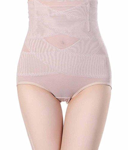 Damen High Waist Control Panty mit Bauch-weg-Effekt Slip Miederhose Unterwäsche Shapewear (4XL(Fit 30.7--32.2 Inch Waist), Beige(3-5 Days Delivery)) (Boyshort Fit)