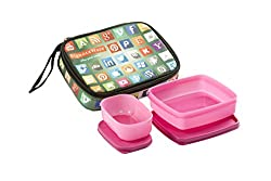 Signoraware Network Twin Smart Lunch Box Set, 2-Pieces, Pink