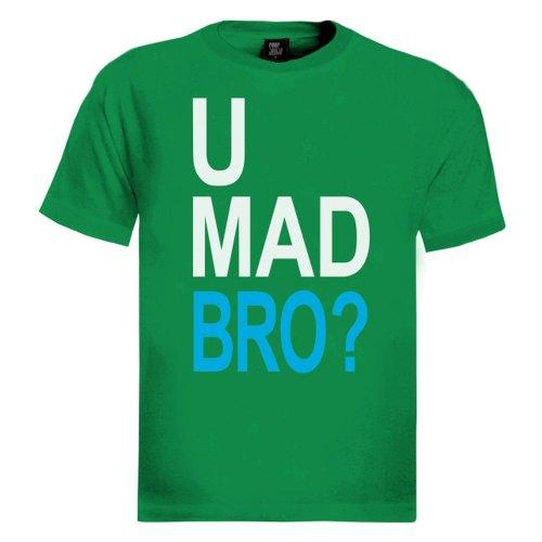 U Mad Bro Grün XXL T-Shirt
