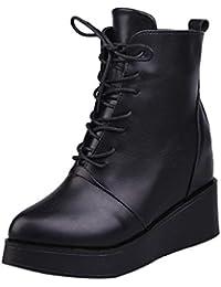 Zapatos de mujer Botas de mujer Botines Mujer Sexy Moda Plataforma Punk Talón cuadrado Casual Negro Corto Martín Botas LMMVP