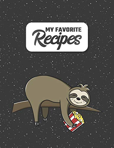 My Favorite Recipes: Costum Cookbook to Write in | 8.5 x 11 | 100 Recipe Pages | DIY Cookery Book Gift Idea | Blank Recipe Notebook | 4 Pages of Table of Contents