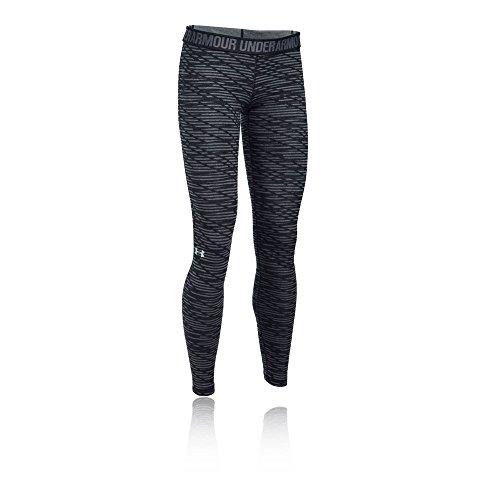 Under Armour Favorite printed legging Women's Sports Leggings (1300181-001_XS_Black, Carbon Heather and Metallic Silver)