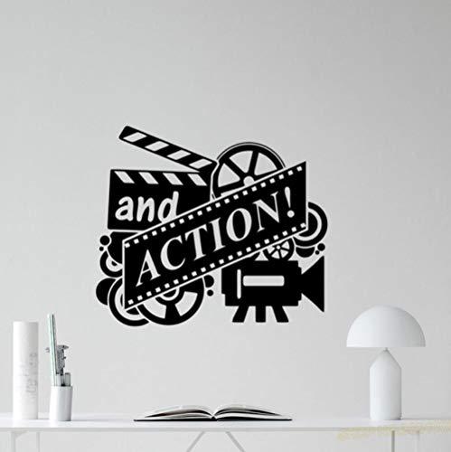 Olivialulu Action Movie Wandtattoo Filmrolle Kino Heimkino Vinyl Aufkleber Dekoration Abnehmbare Kunstwand Schlafzimmer Home Decoraiton L872 57 * 65 Cm Anpassbare (Heimkino-system In Decke Der)