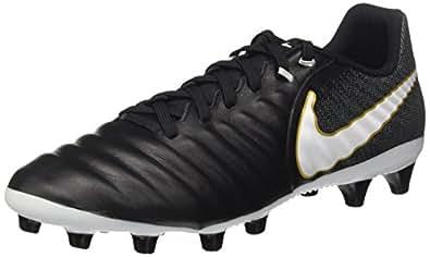 Nike Herren Buty Tiempo Rio IV Fg 897759 008 Fußballschuhe, Schwarz (Black/White/Laser Orange/Volt), 41 EU