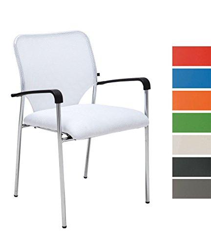 CLP Lehnstuhl Cuba mit Stoffbezug und Hochwertigem Sitzpolster I Konferenzstuhl mit Armlehne und...