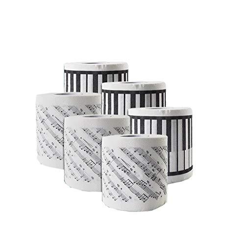 Zhijin 6 Rollen Toilettenpapier, Toilettenpapier der 7. Generation, 2 Schichten farbig bedrucktes Toilettenpapier (Farbe : A)