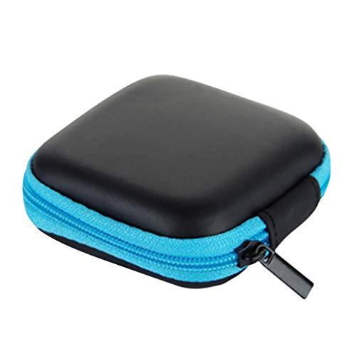 Aufbewahrungsboxen,Rifuli Mini Reißverschluss Hartleder Kopfhörer Aufbewahrungstasche Kopfhörer...