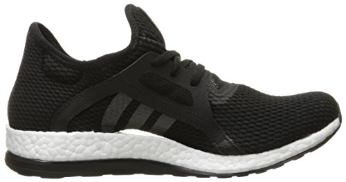 Adidas Pure Boost X Hommes Toile Chaussure de Course Black-Black-Solid Grey